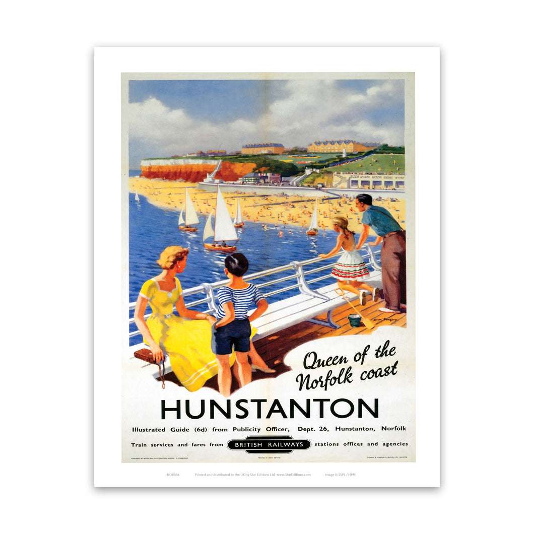 Hunstanton Queen of the Norfolk Coast Art Print