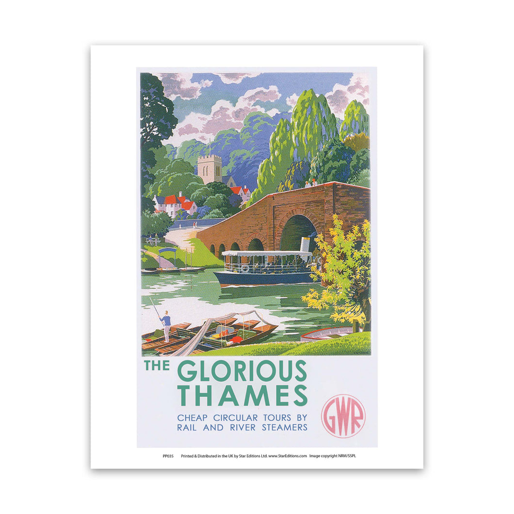 Glorious Thames Art Print