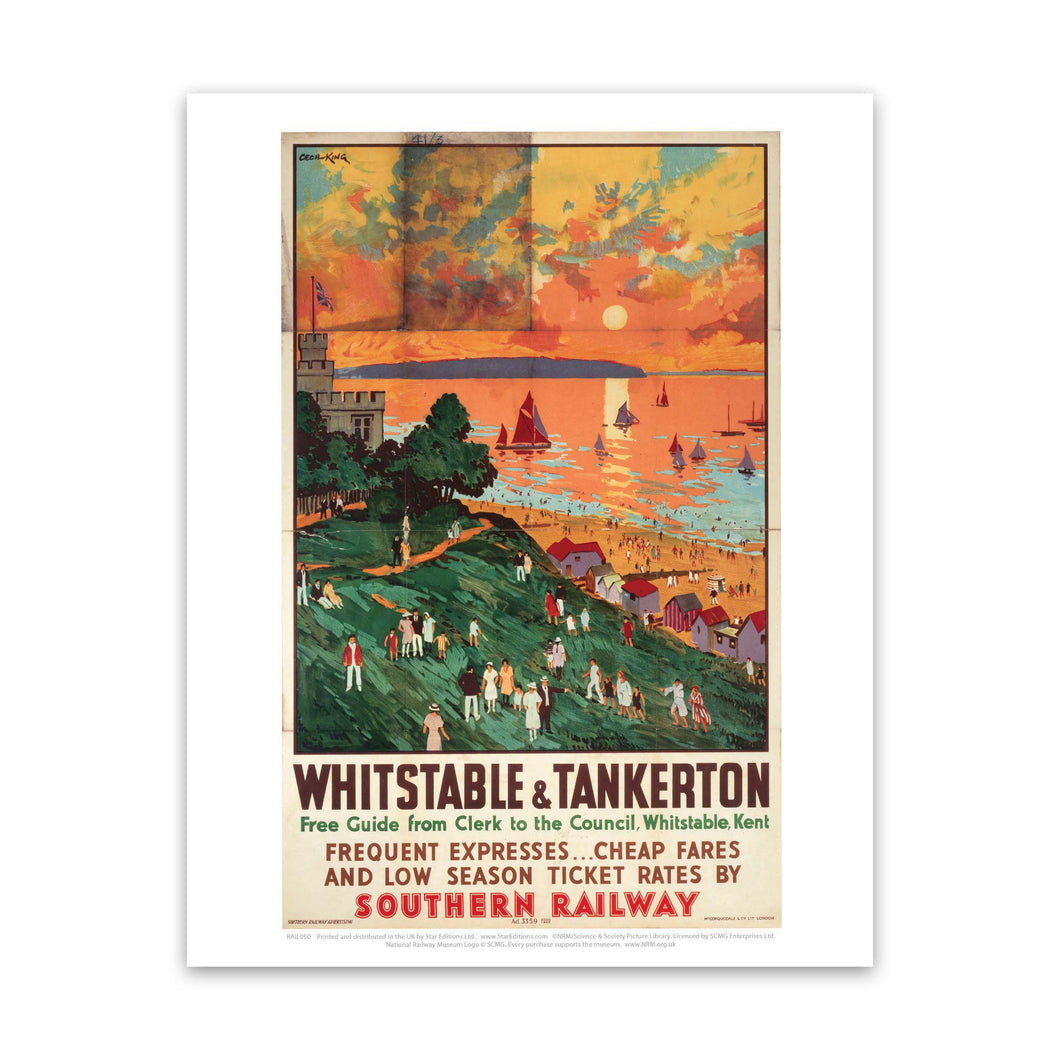 Whitstable and Tankerton Art Print