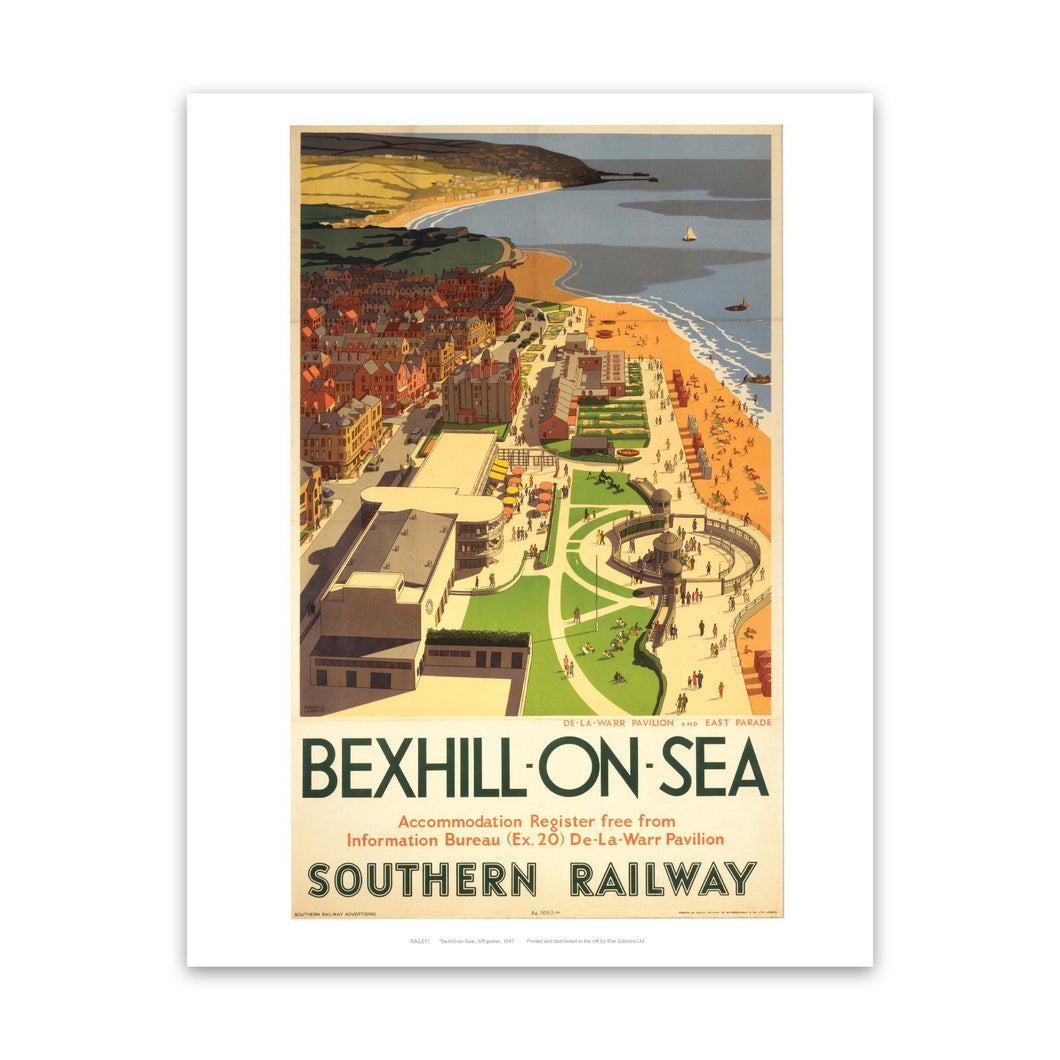 Bexhill-on-sea from air Art Print