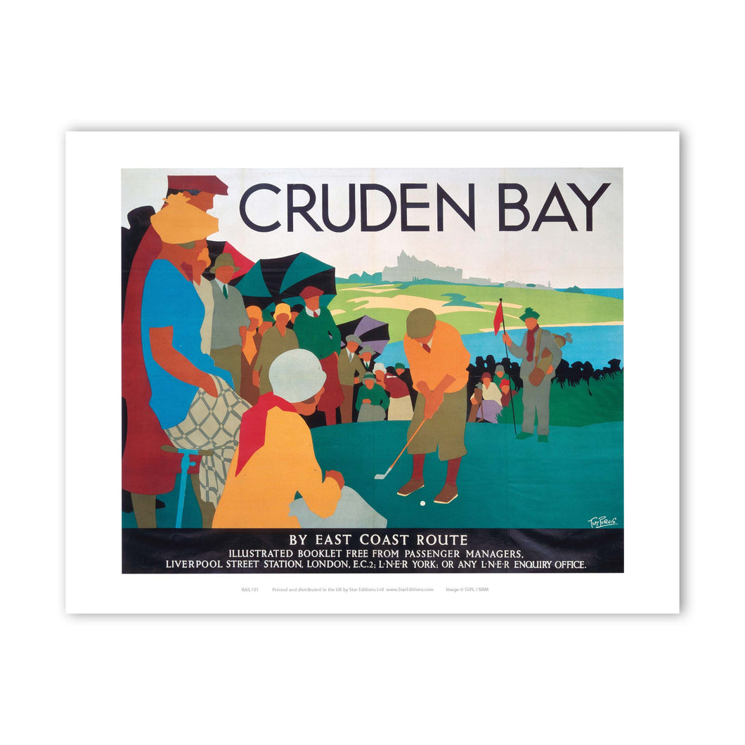 Railway Poster - Cruden Bay Golf Putting