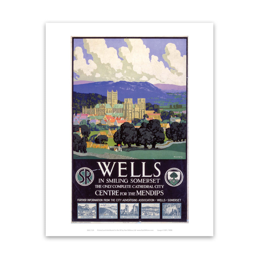 Wells in smiling somerset Art Print