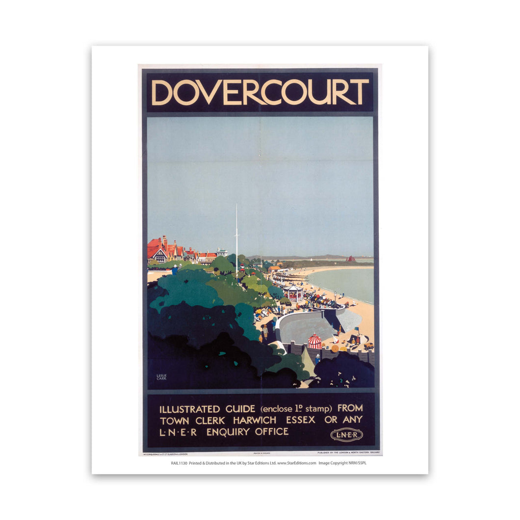 Dovercourt illustrated guide Art Print