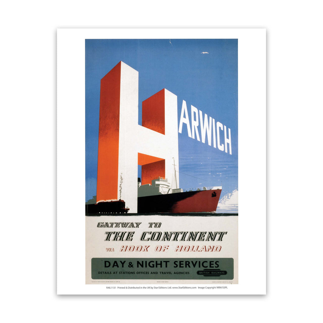 Harwich, Gateway to the continent Art Print