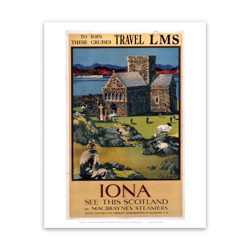 Iona - see this Scotland in Macbrayne's Steamers Art Print