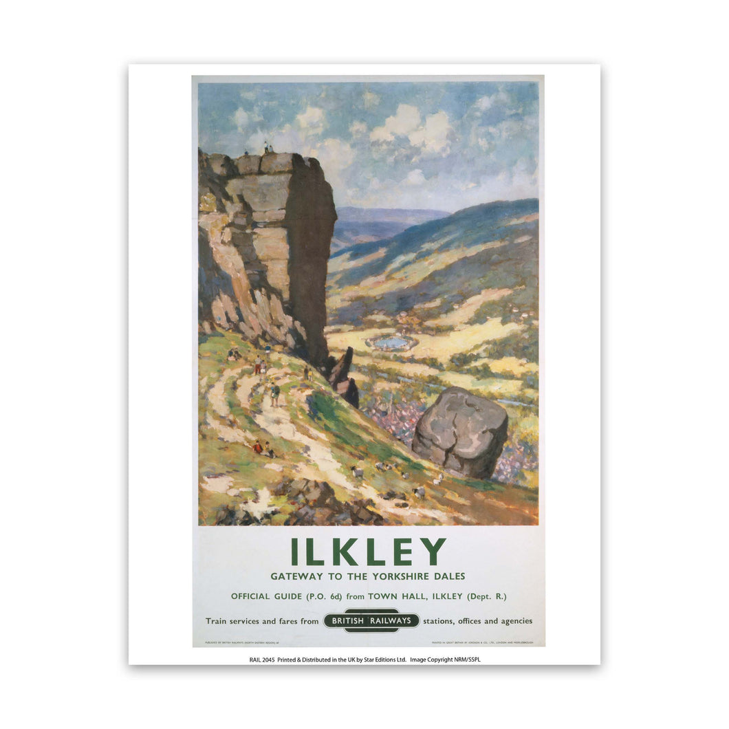 Ilkley Gateway to the Yorkshire Dales Art Print
