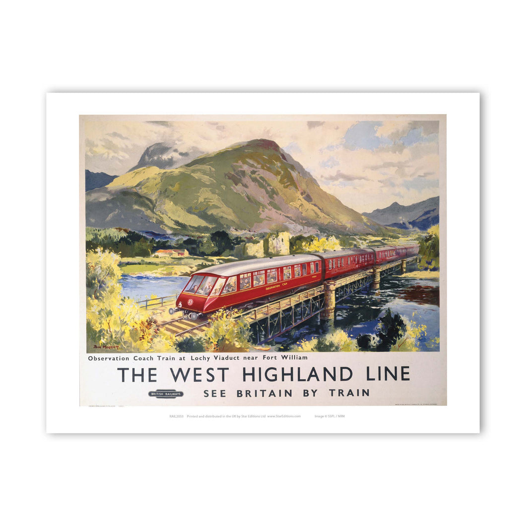 The West Highland Line - Lochy Viaduct nr Fort William Art Print