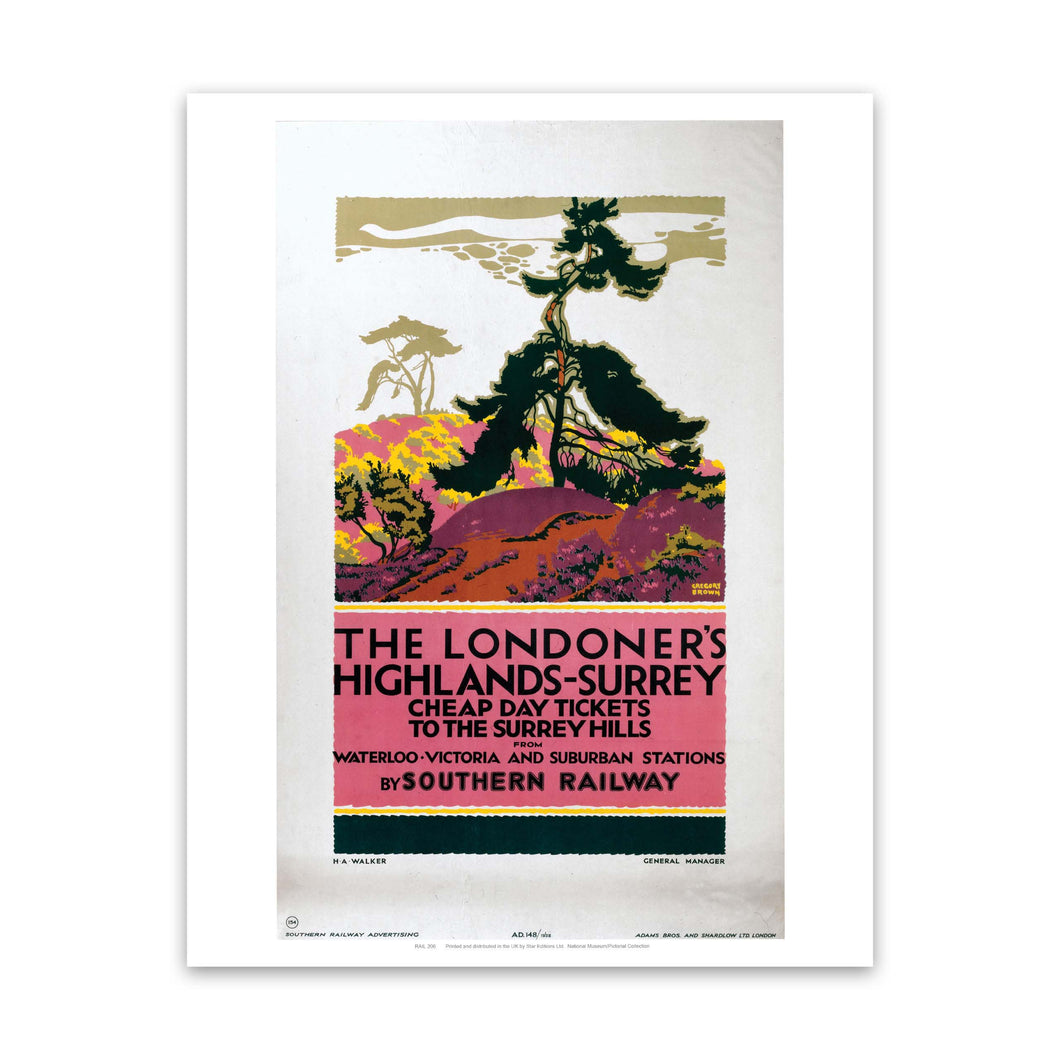 The Londoner's Highlands Art Print