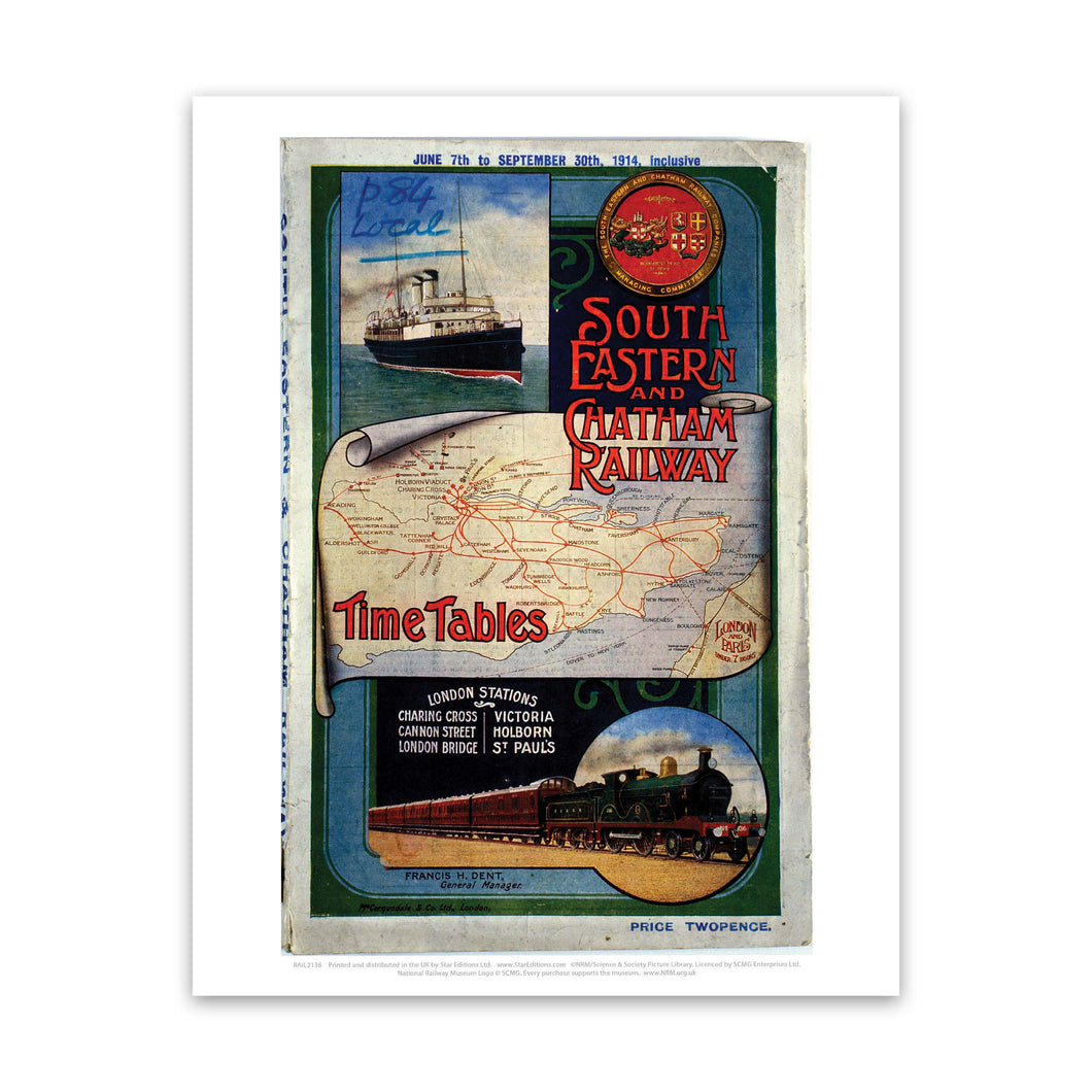 South Eastern and Chatham Railway Art Print
