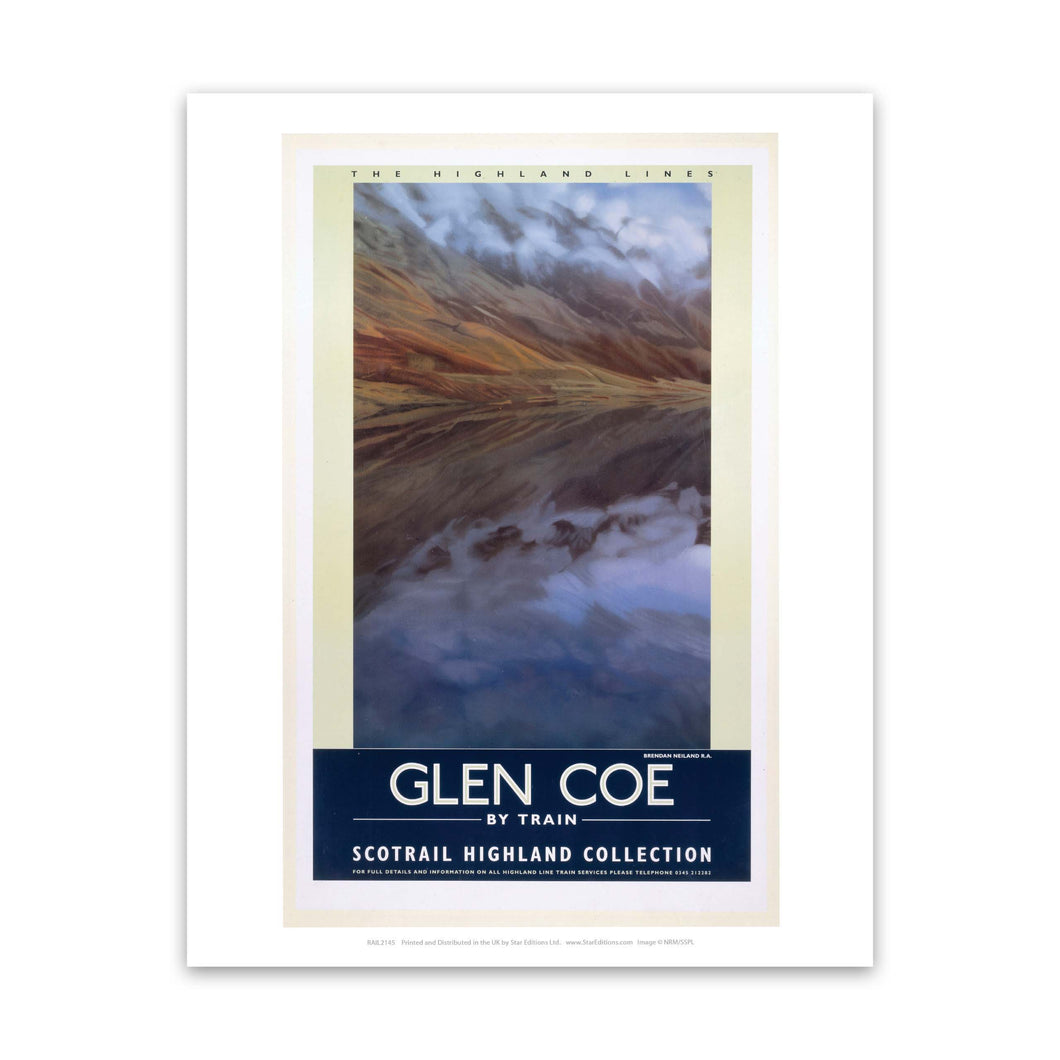 Glencoe by Train Highland Lines Art Print
