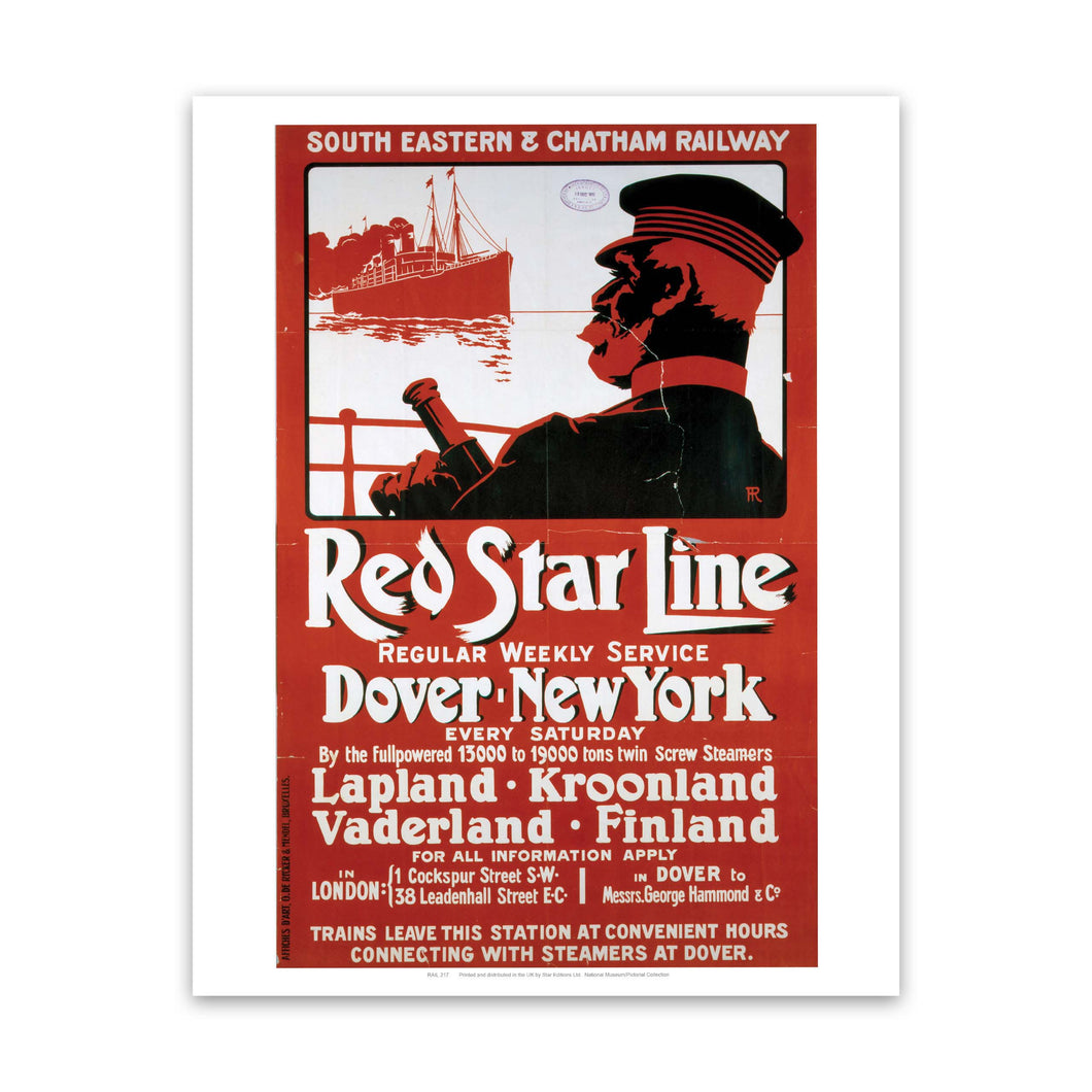 Red Star Line Art Print