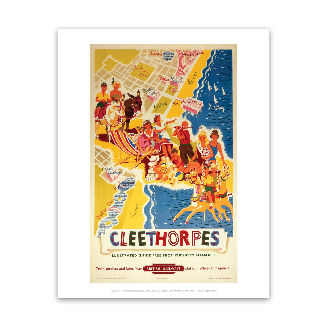 Cleethorpes It's Quicker By Rail Art Print