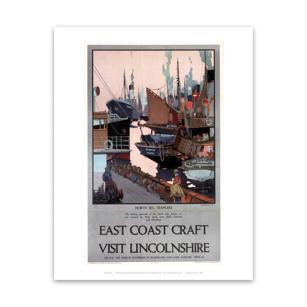 North Sea Trawlers Lincolnshire Art Print