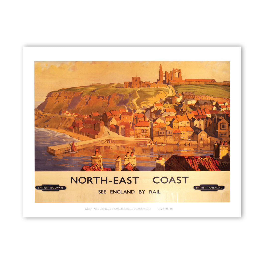 North East Coast Whitby Art Print