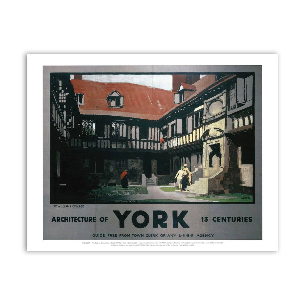 Architecture of York Art Print