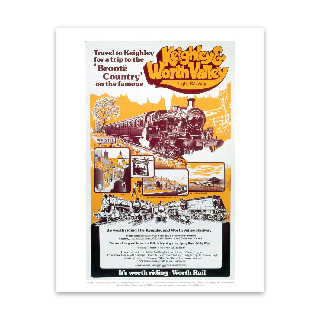 Keighley and Worth Valley Light Railway Art Print