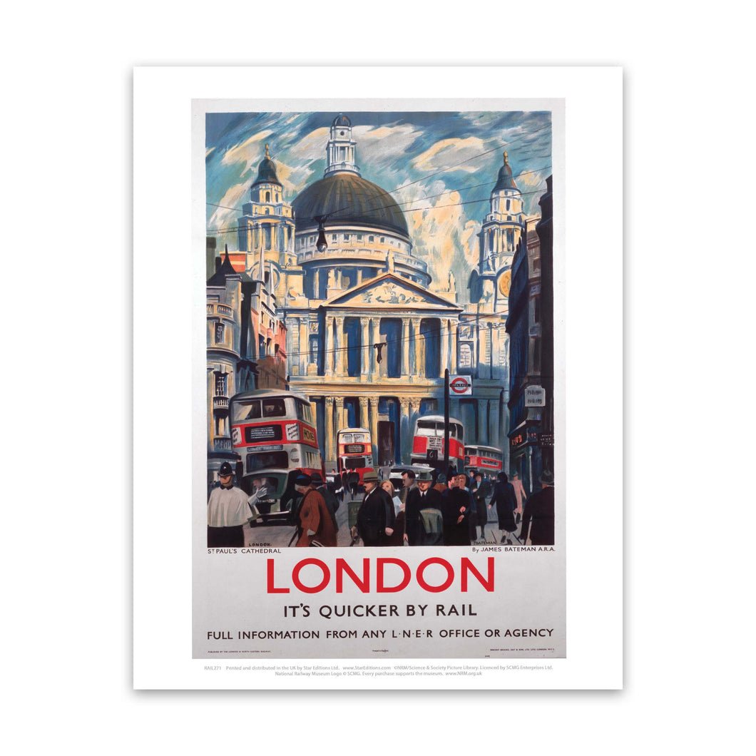London, its quicker by rail 2 Art Print