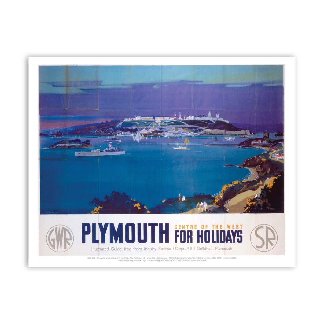 Plymouth for holidays Art Print