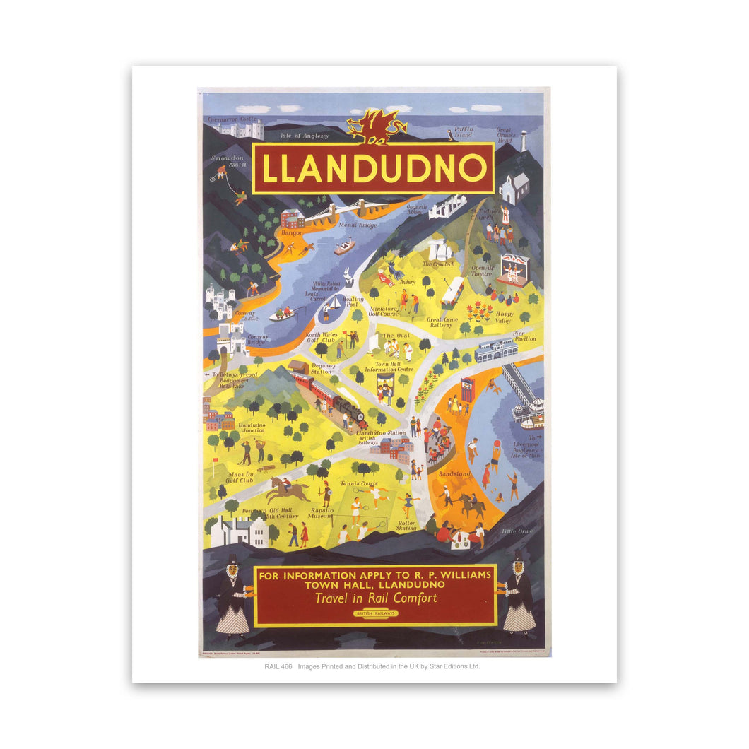 Llandudno for information Art Print