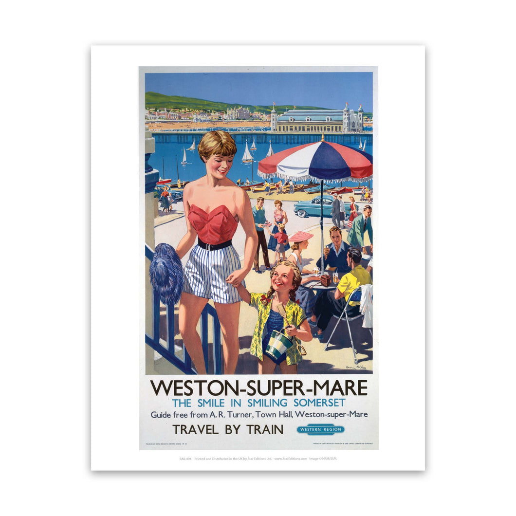 Weston-super-Mare - The smile in smiling Somerset Art Print
