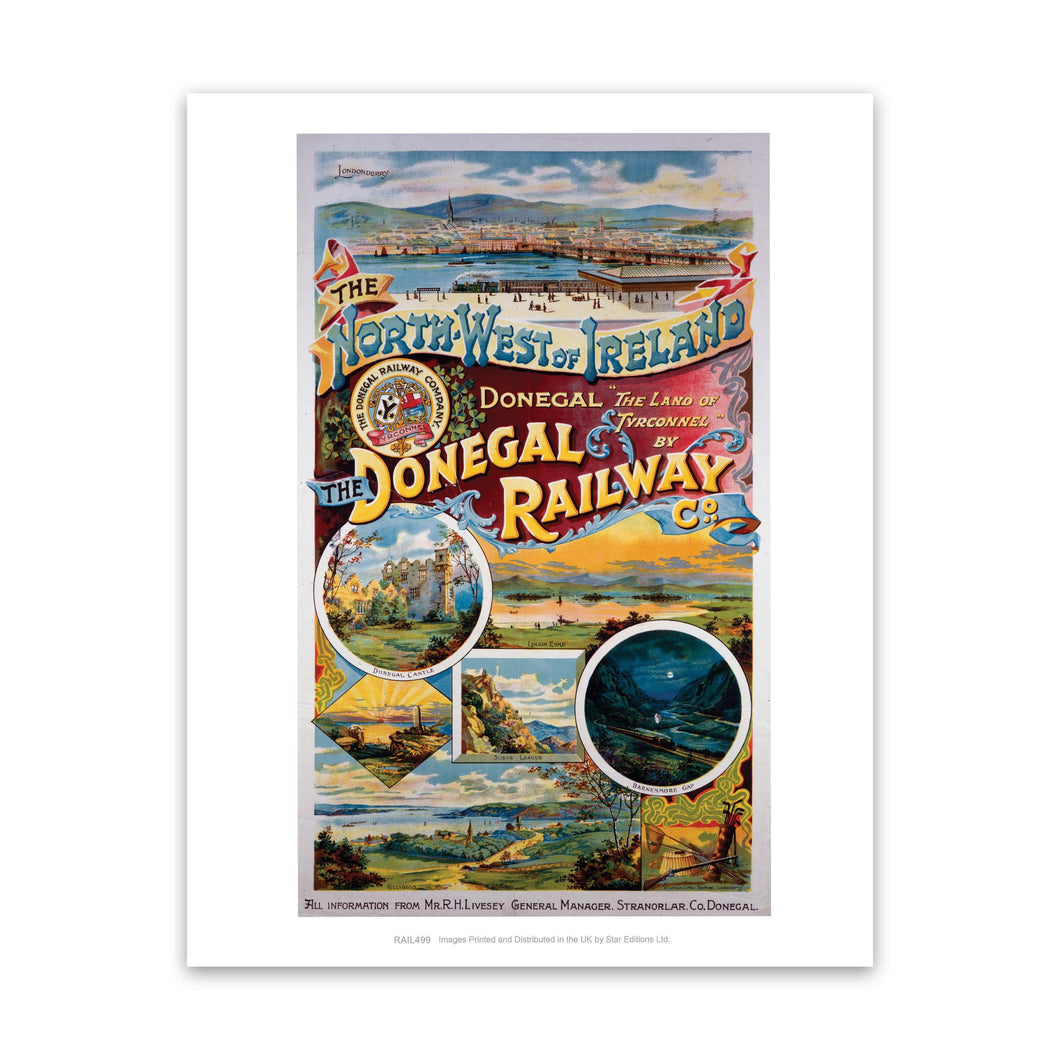 The Donegal Railway - North West of Ireland Art Print