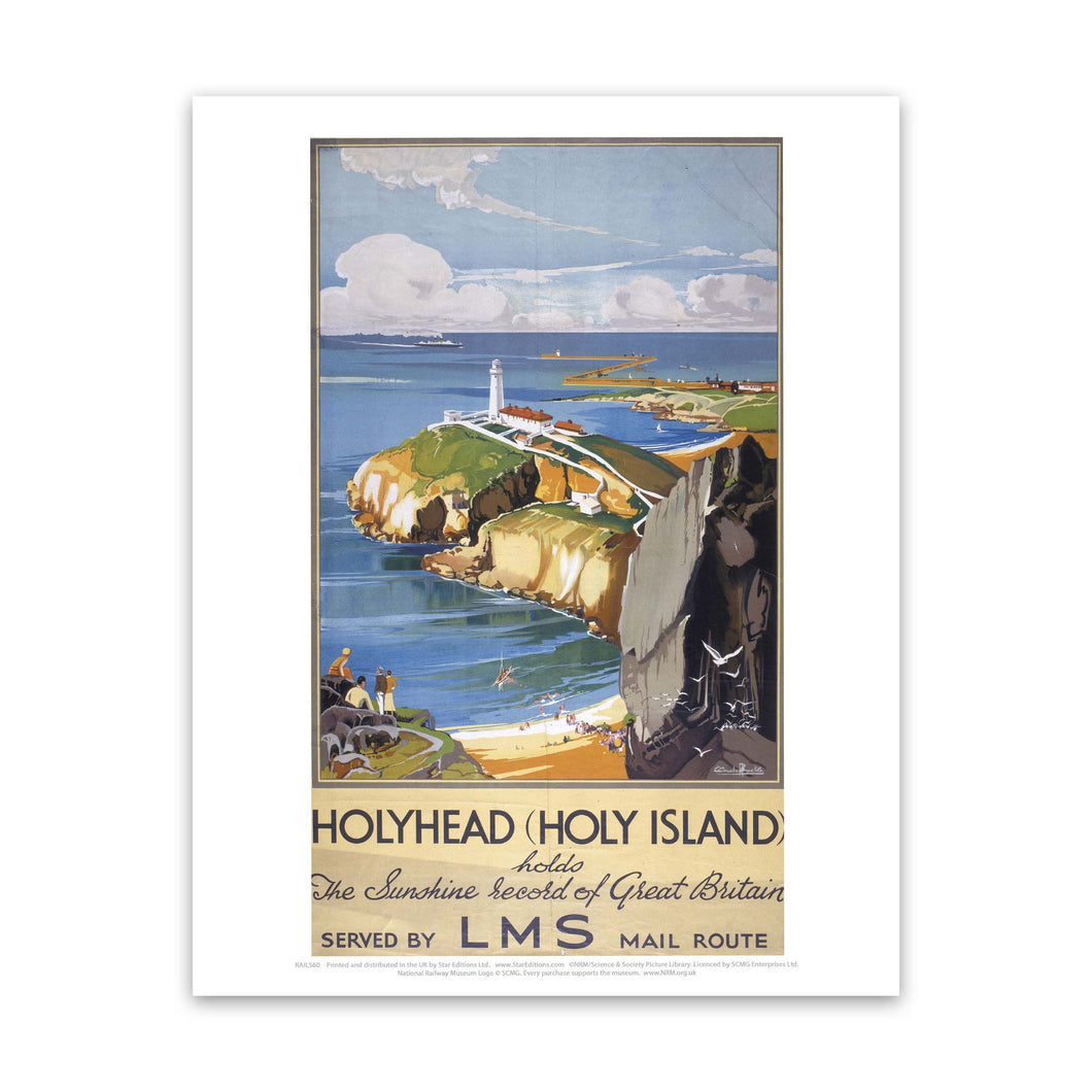 HolyHead record of great britain - Holy Island LMS poster Art Print