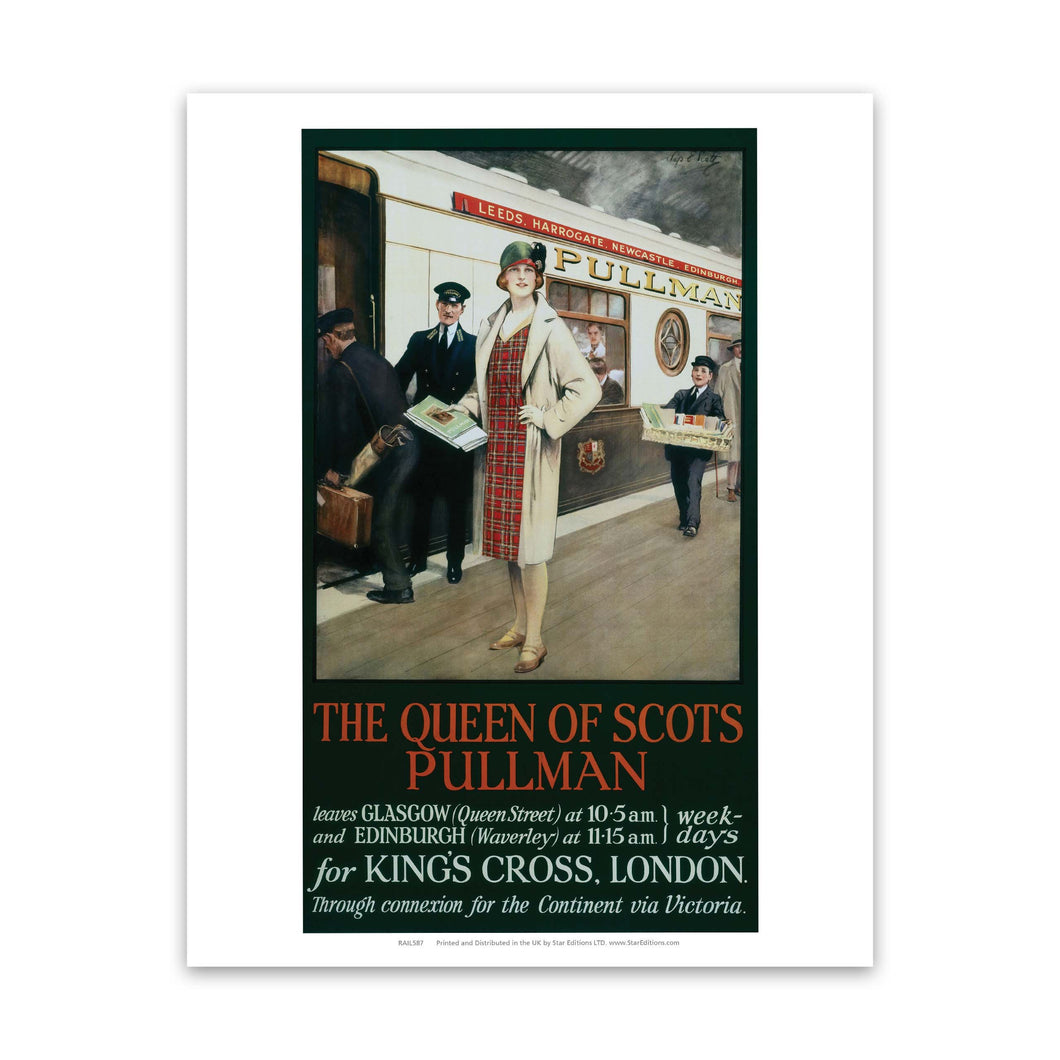 The Queen Of Scots Pullman - To Kings Cross Station Art Print