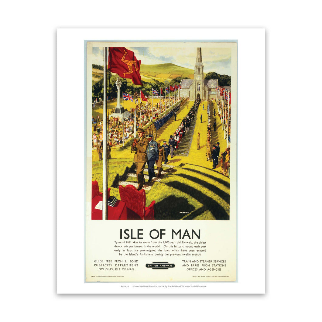 Isle Of Mans Tynwald Hill - Ceremony Art Print