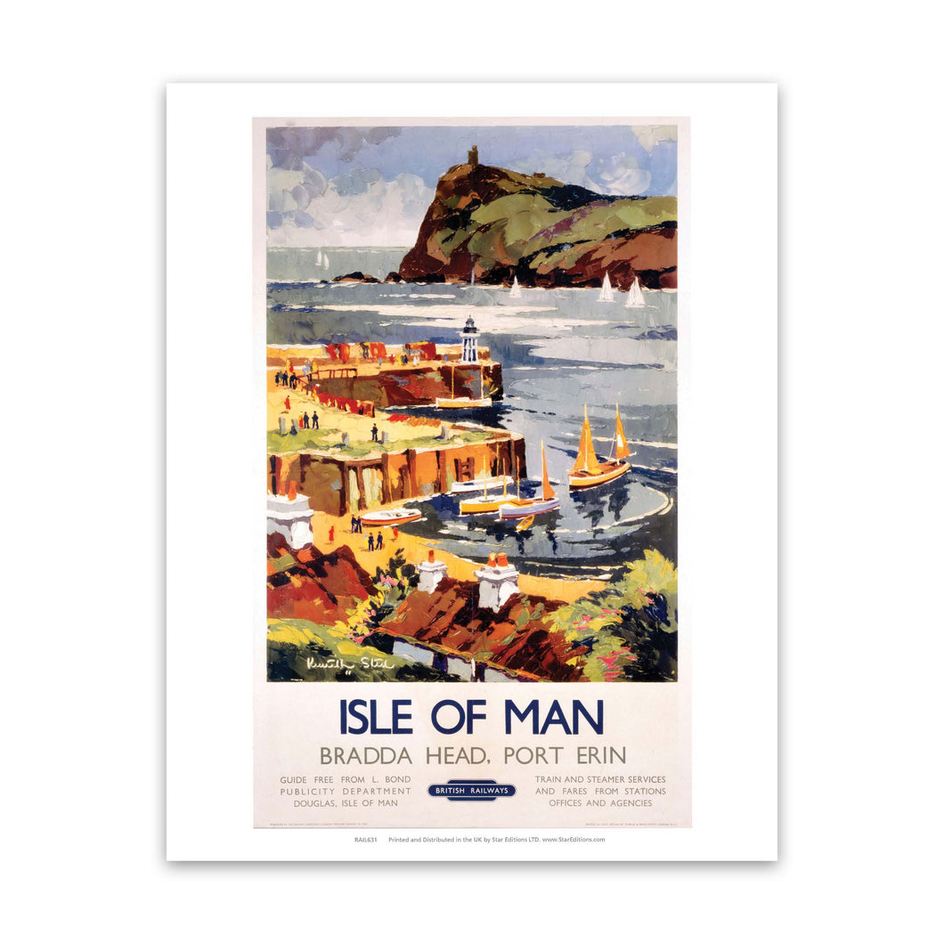 Bradda Head, Port Erin - Isle Of Man British Rail Art Print