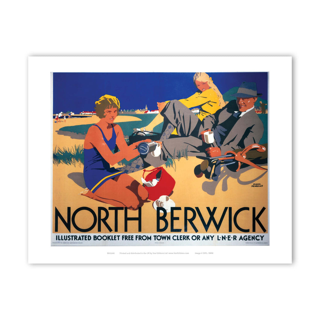 Picnic on the beach - North Berwick LNER Art Print