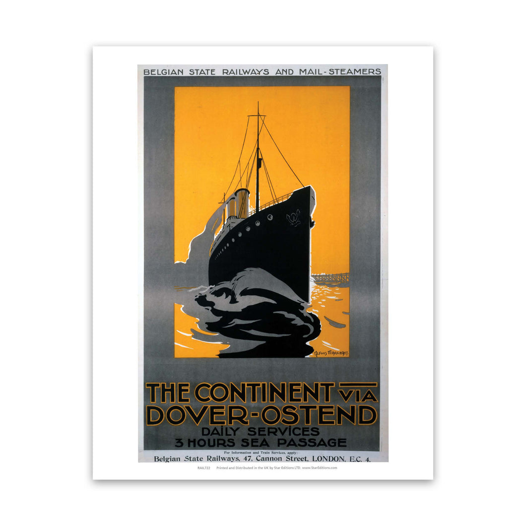 Dover-ostend - the continent 3 hour passage Art Print
