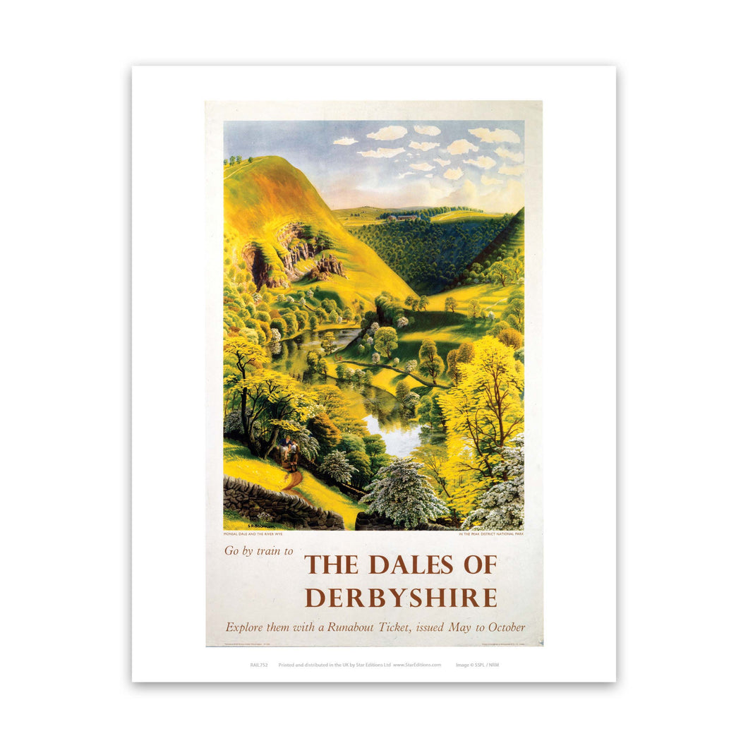 The Dales Of Derbyshire - Go by train countryside Art Print
