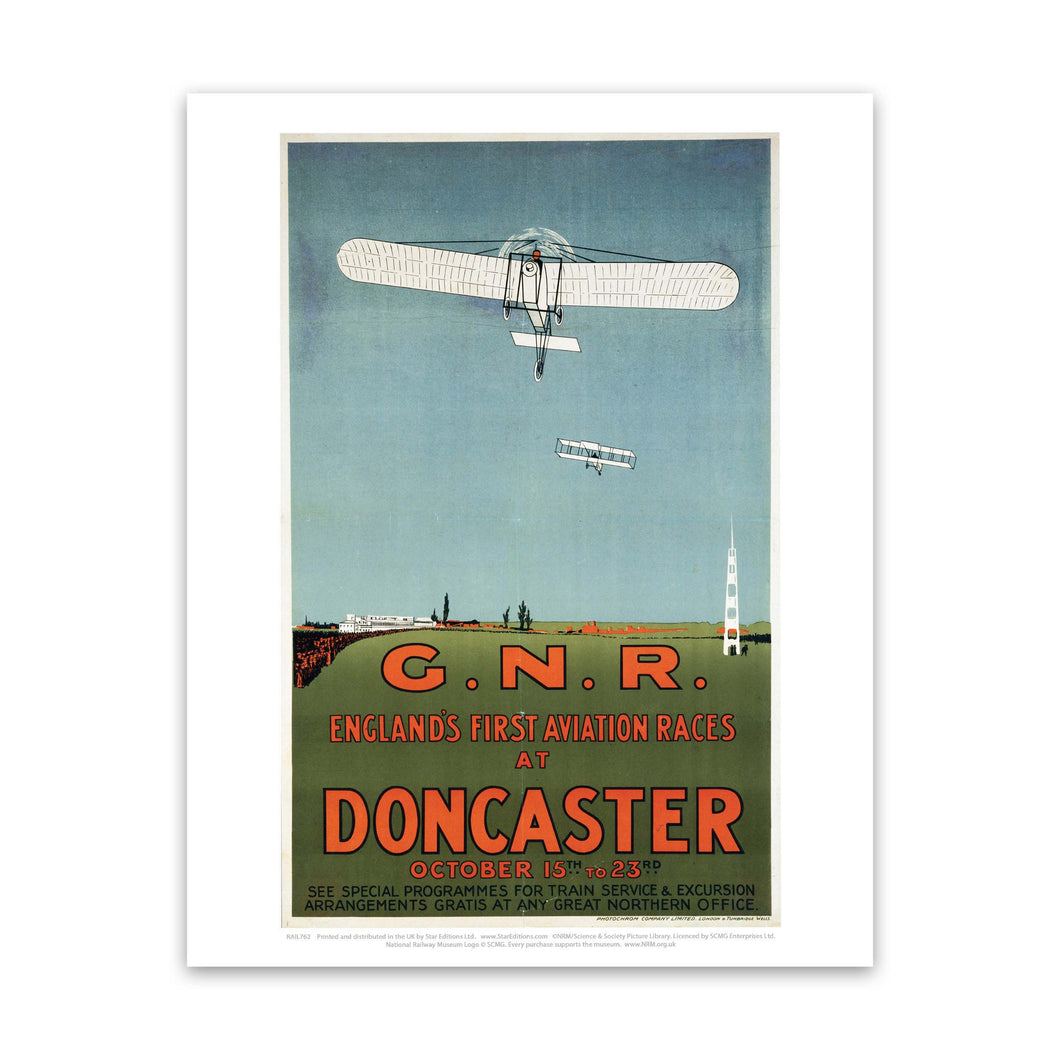 Englands First Aviation Races at Doncaster - GNR Art Print