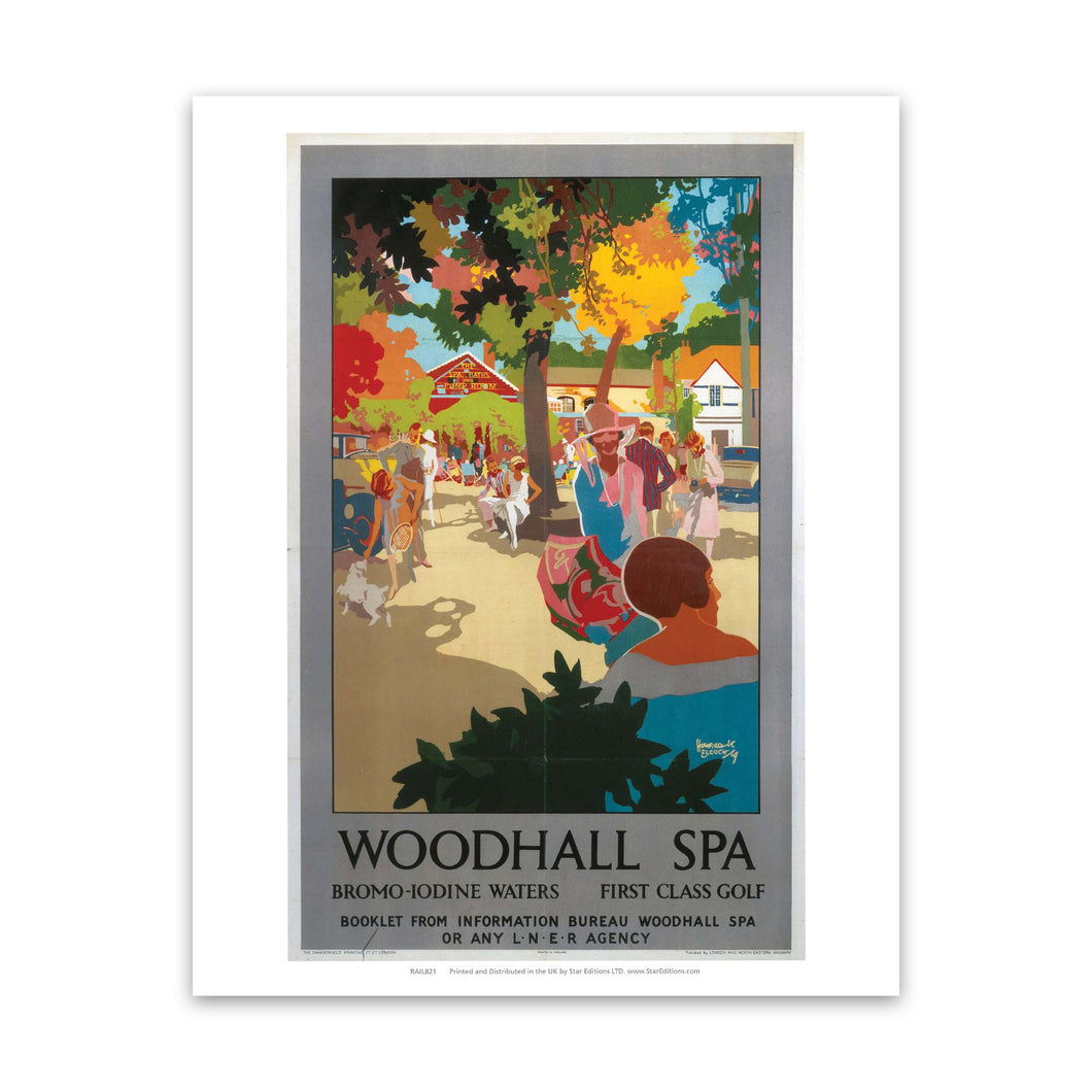 Woodhall Spa Dromo-Iodine waters and first class golf Art Print