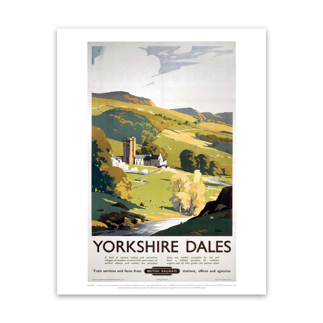 Yorkshire Dales - British Railways Hillside painting Art Print