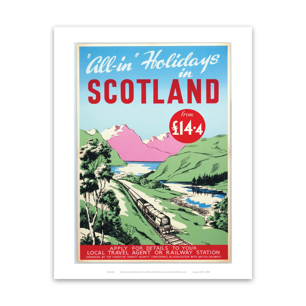 All-in holidays In Scotland From £14.4 Art Print