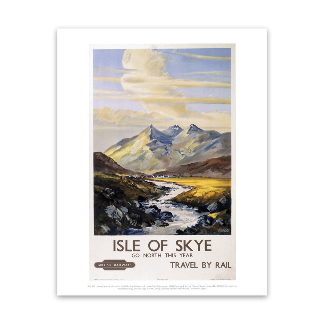 Isle of Skye - Go North This year Art Print