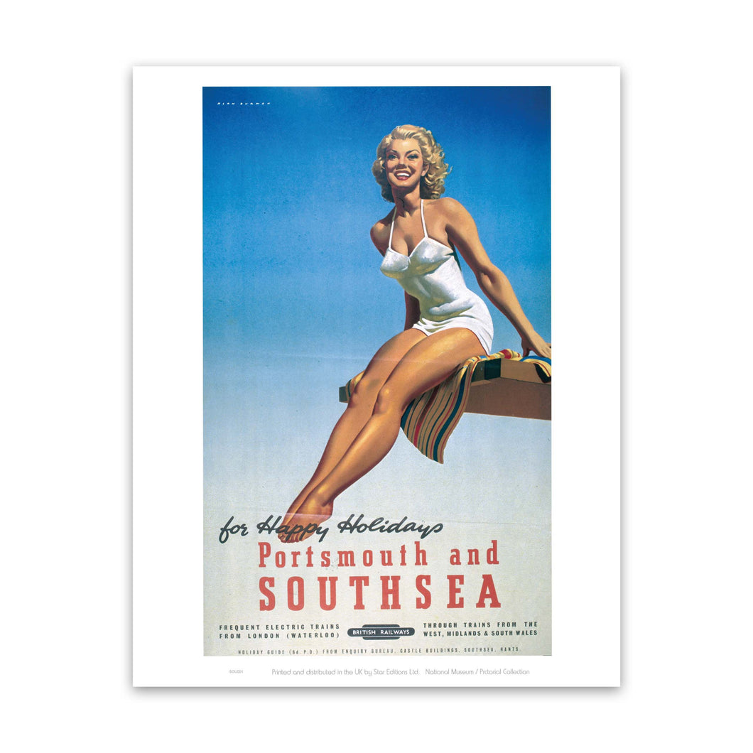 Railway Poster - Portsmouth and Southsea