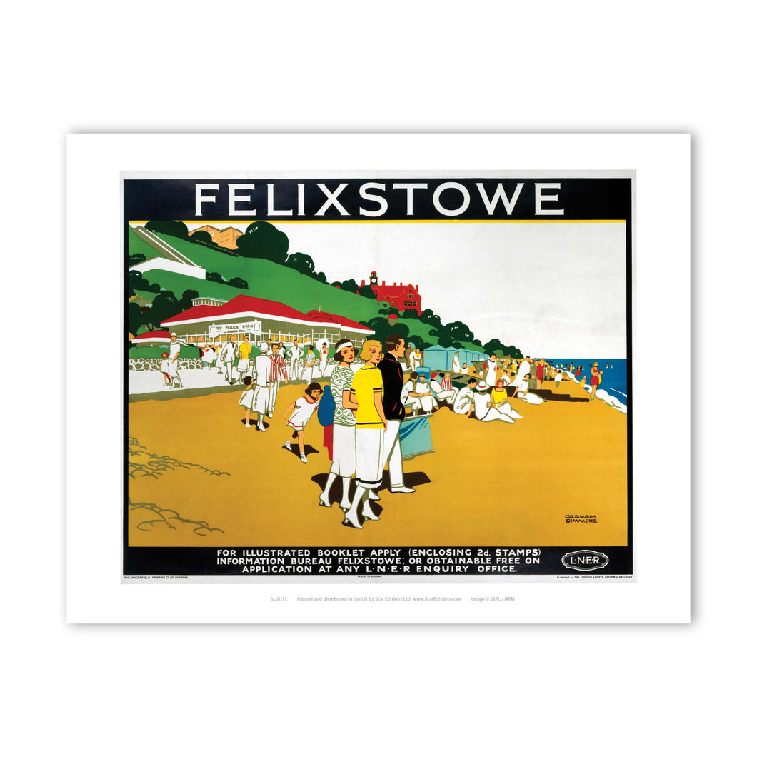 Felixstowe LNER- It's Quicker By Rail Art Print