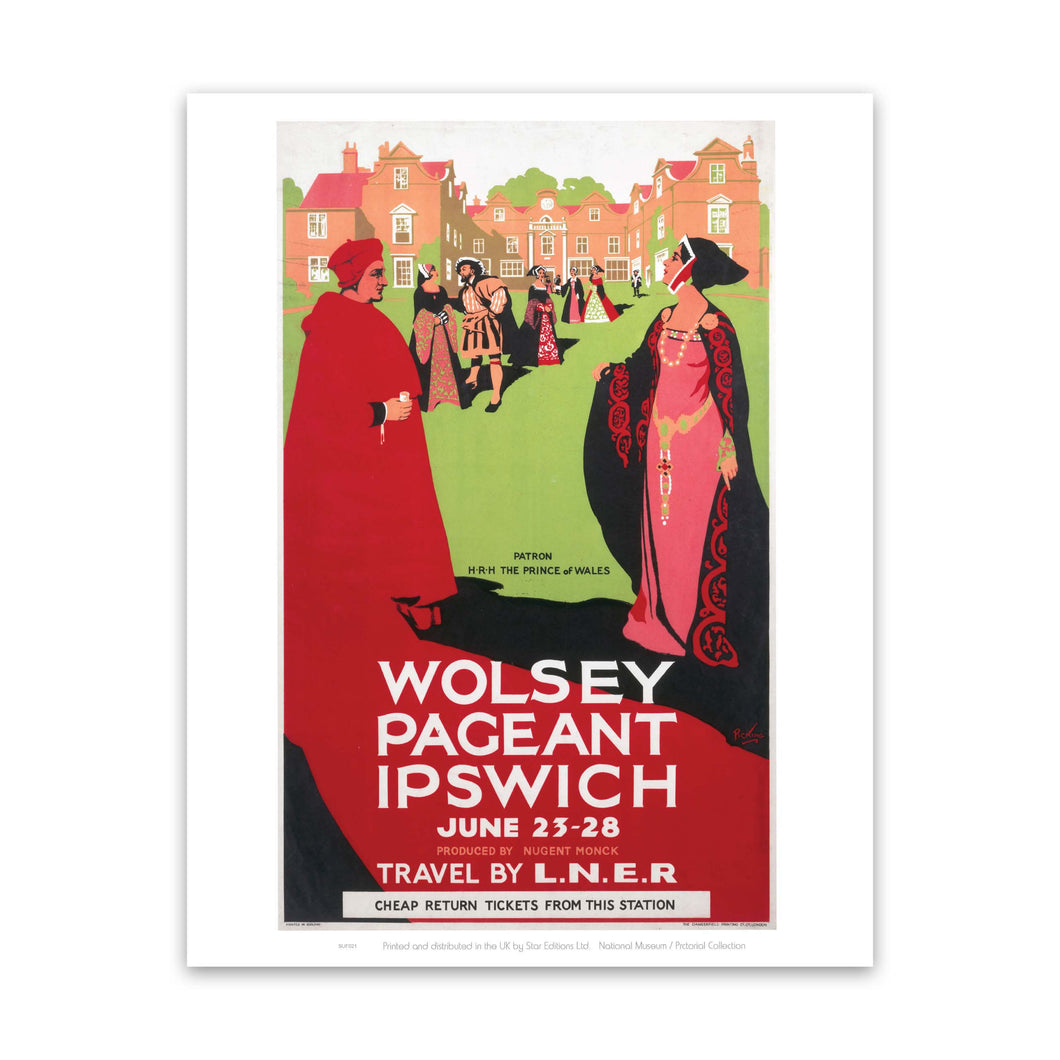 Wolsey Pageant Ipswich - Travel by LNER Art Print
