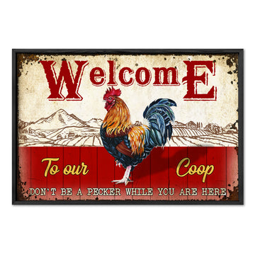 Farmer Welcome To Our Coop Poster