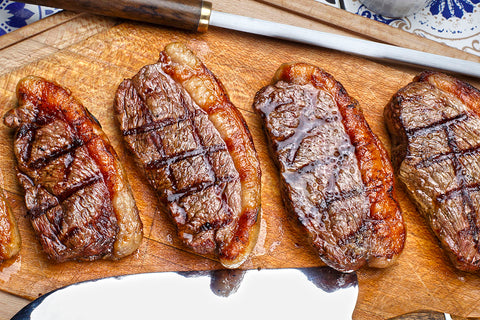 Grilled picanha steaks, traditional Brazilian cut!