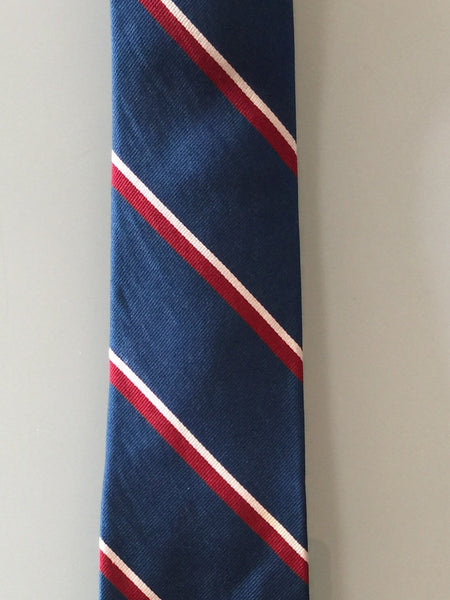 d2e744fdeb22 Preppy Repp Tie Navy Blue, Red, and White – Higgins and Cole