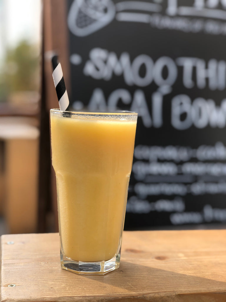 cashew coconut water and mango smoothie