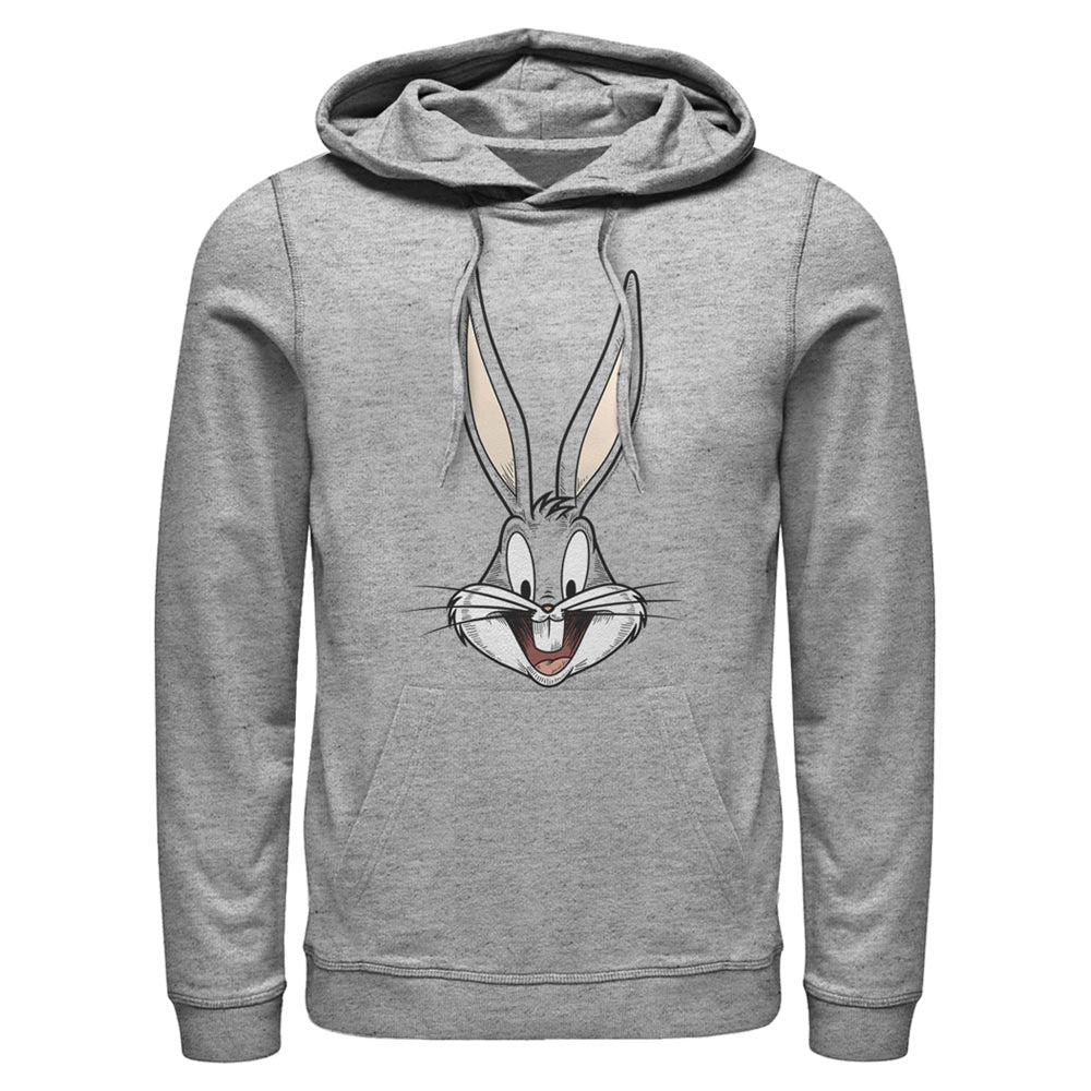 Grey Heather Bugs Bunny Big Face Hoodie from Looney Tunes Image