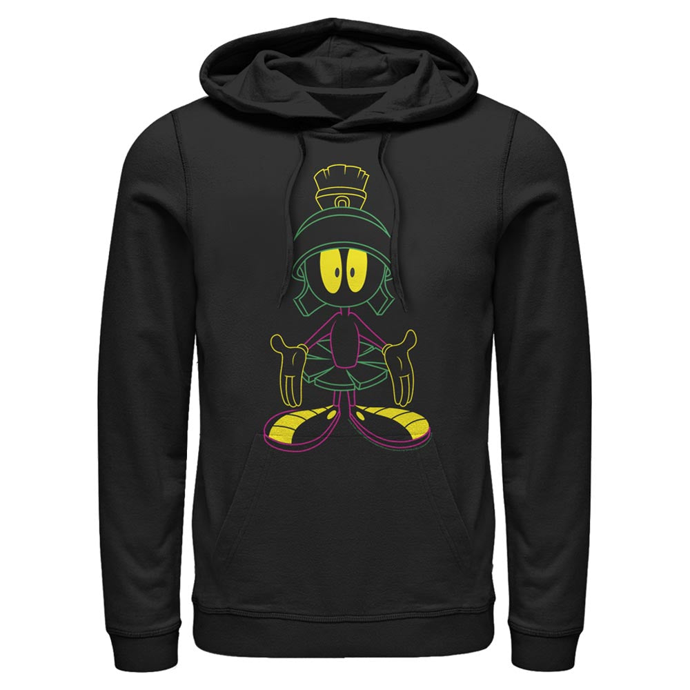 Black Marvin the Martian Neon Open Arms Hoodie from Looney Tunes Image
