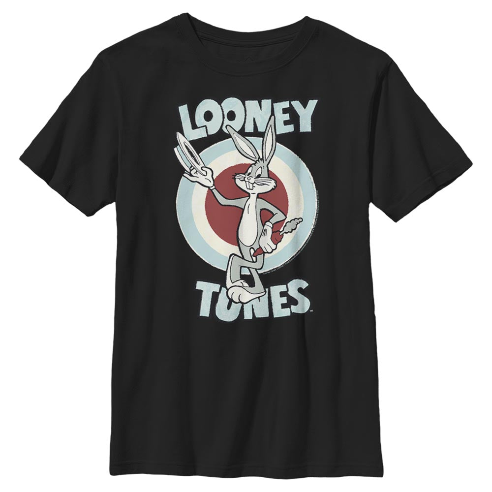 Black Bugs Bunny Hats Off Kids' T-Shirt from Looney Tunes Image