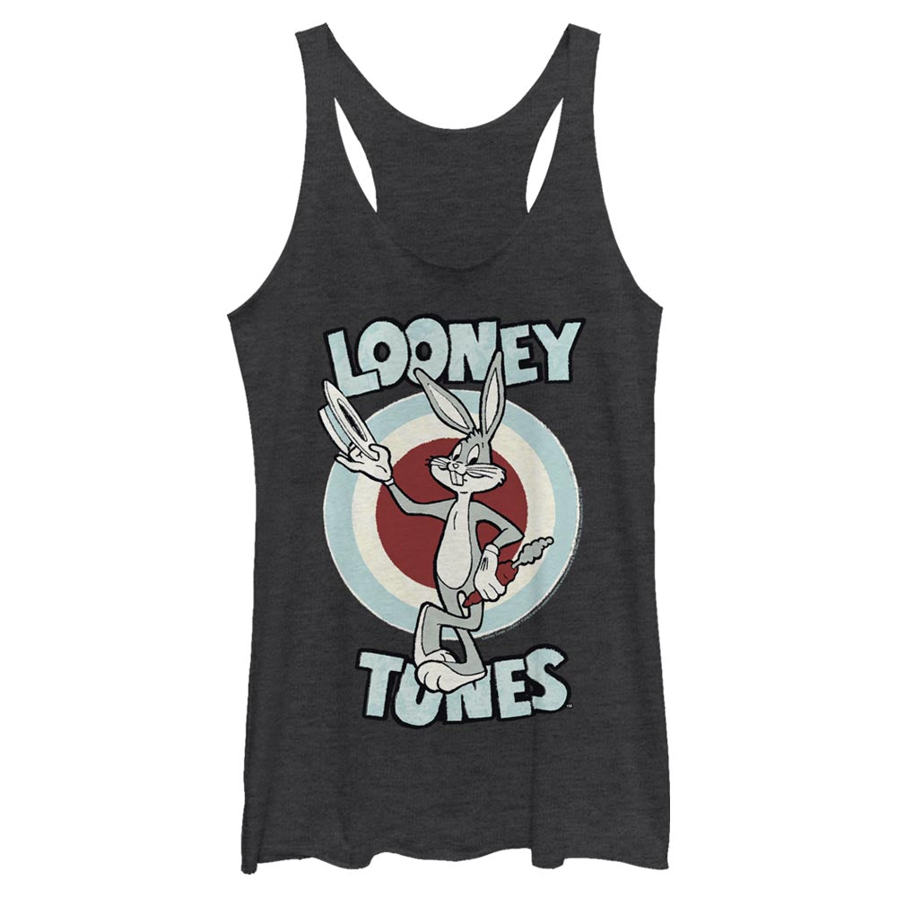 Black Heather Bugs Bunny Hats Off Women's Racerback Tank from Looney Tunes Image