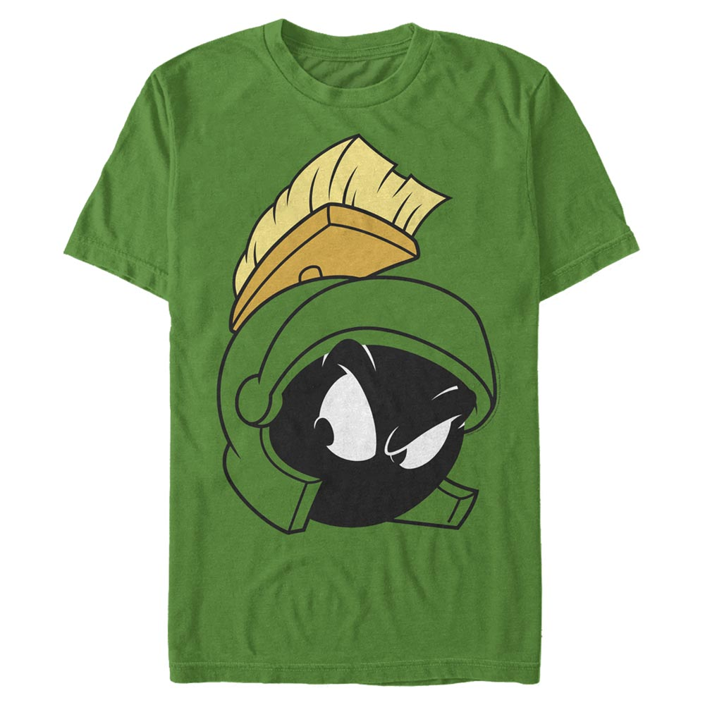 Kelly Green Marvin the Martian Big Face T-Shirt from Looney Tunes Image