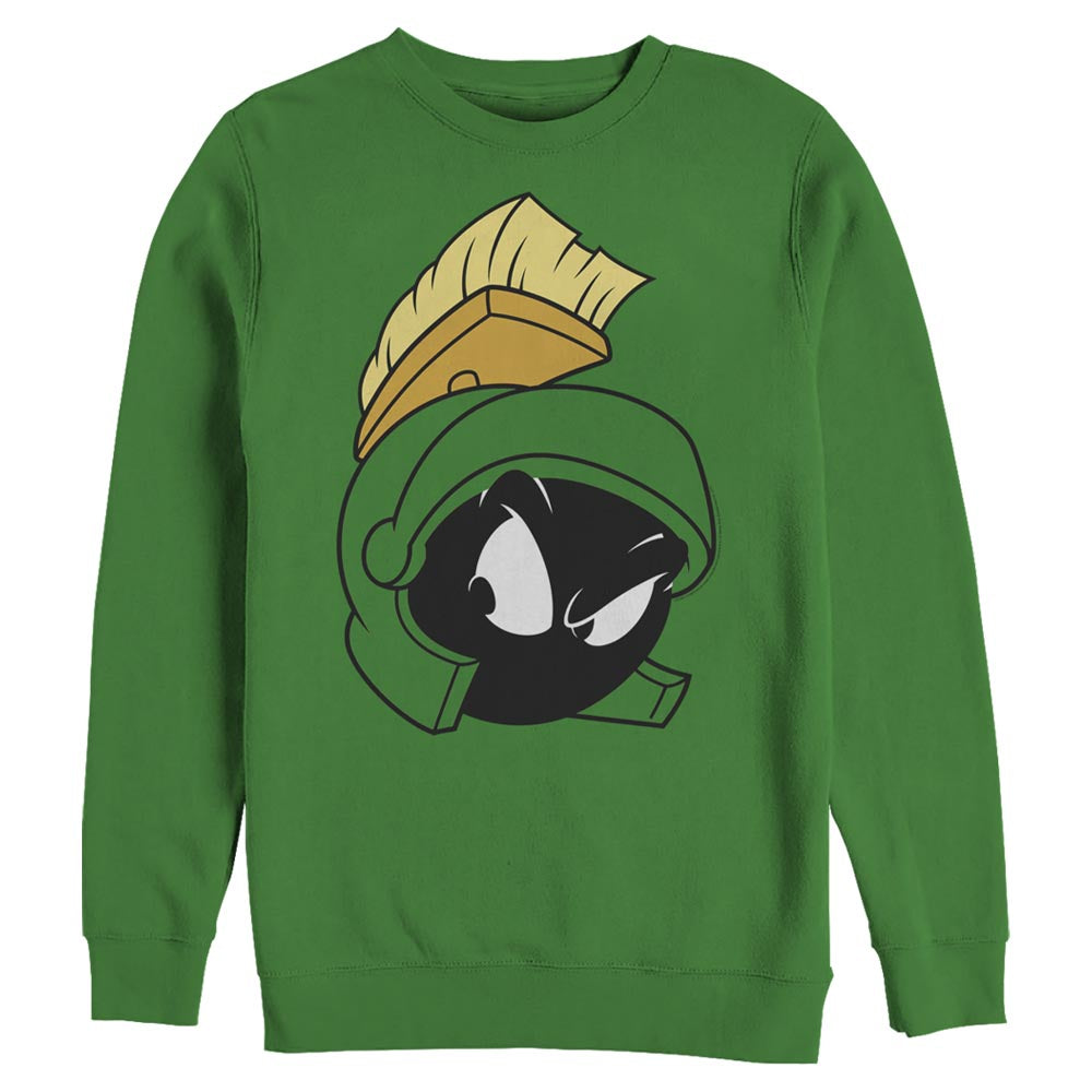 Kelly Green Marvin the Martian Big Face Crew Sweatshirt from Looney Tunes Image